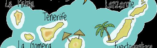 Animatie baan op de Canarishce eilanden